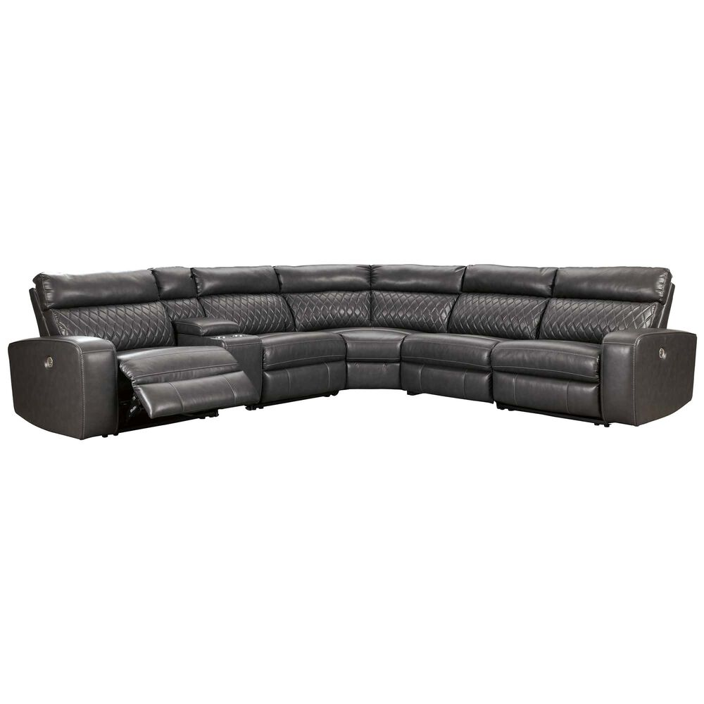 6-Piece Stampetstone Reclining Sectional Living Room Collection