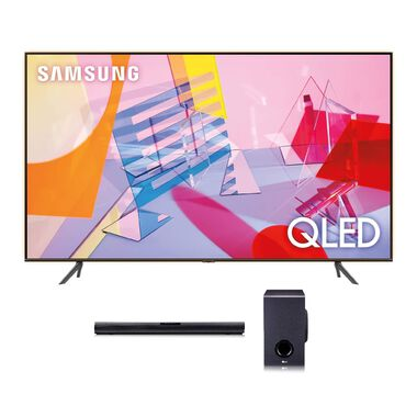 "75"" Class QLED 4K UHD Smart TV & LG 160W 2.1Ch Sound Bar Bundle"