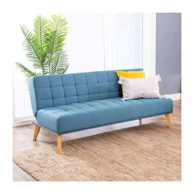 Carson Blue Fabric Convertible Sofa