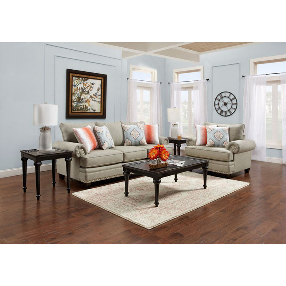 Living Room: Fusion Furniture Sofa & Loveseat Sets 2-Piece Villa Living