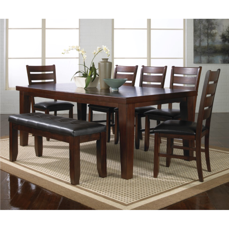 6-Piece Bardstown Dining Set with 4 Chairs & Bench