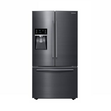 28 cu. ft. French Door Refrigerator with Ice and Water - Black Stainless