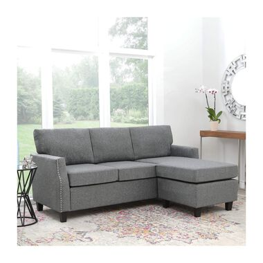 2-Piece Erwin Charcoal Chaise Sofa