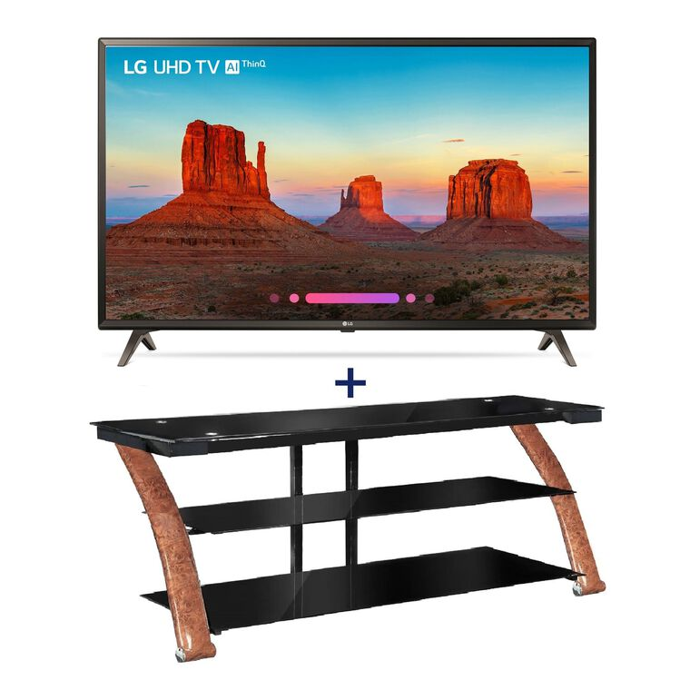 "43"" Class (42.5"" Diag.) 4K UHD LED Smart TV & 52"" TV Console Bundle"