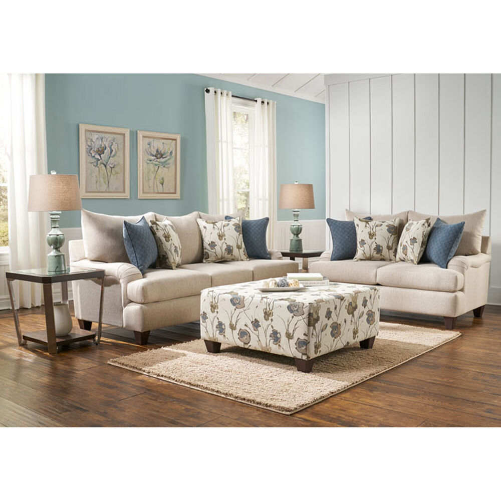 Woodhaven industries living room sets 7 piece vogue living for Living room 7 piece sets