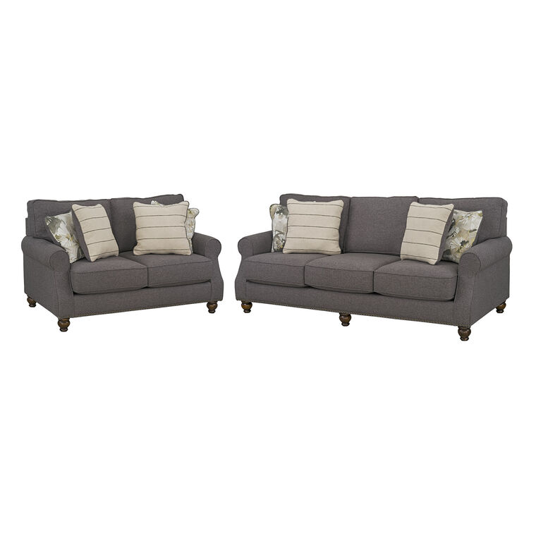 2-Piece Angelina Sofa and Loveseat