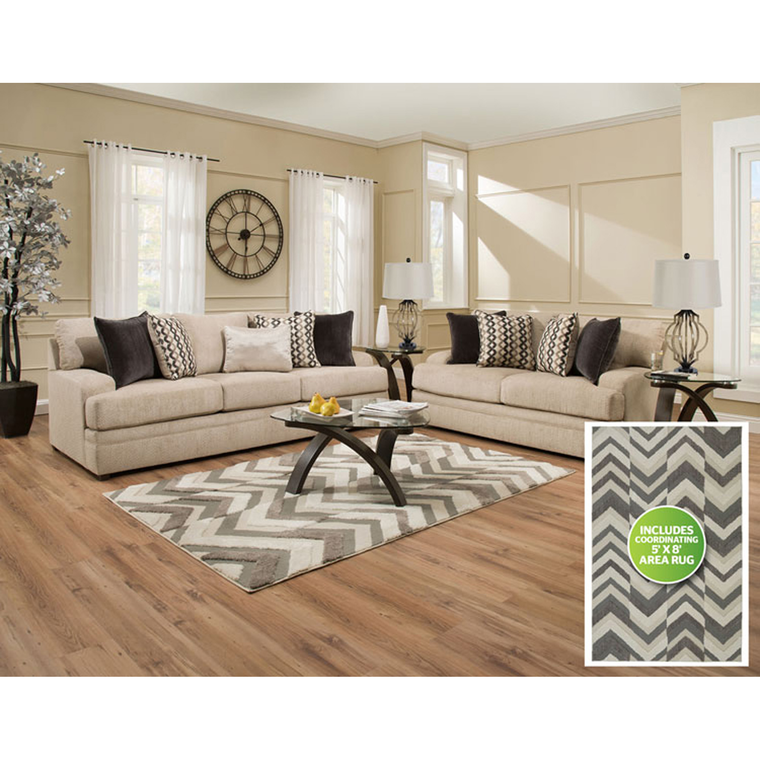 8-Piece Taylor Living Room Collection | Tuggl