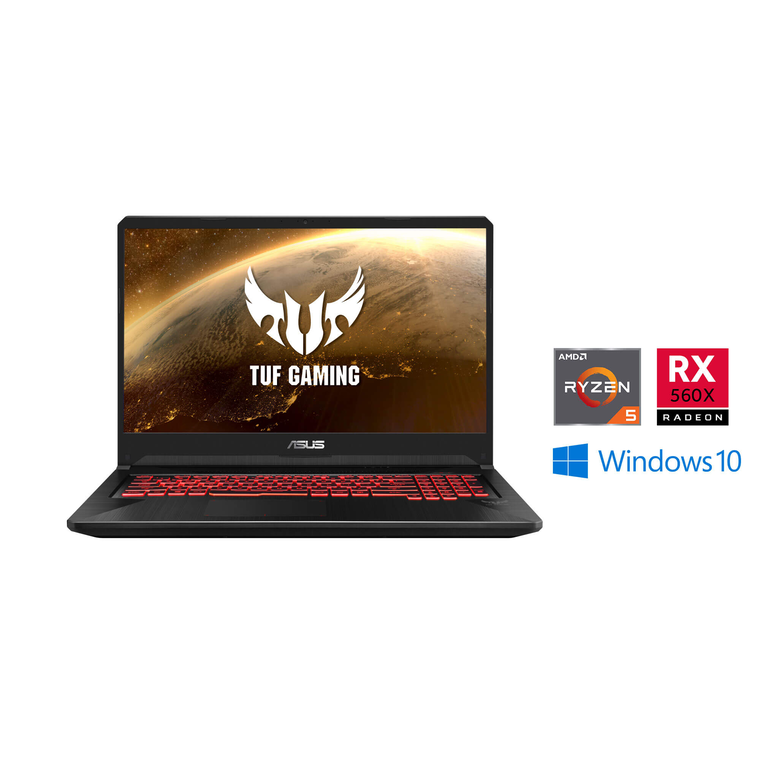 "17.3"" AMD Ryzen 5 Gaming Laptop with Microsoft Office 365 Personal and Total Defense Internet Security"