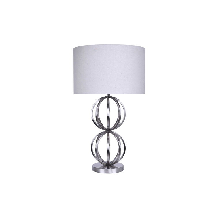 Brushed nickel table lamp set of 2 grandview