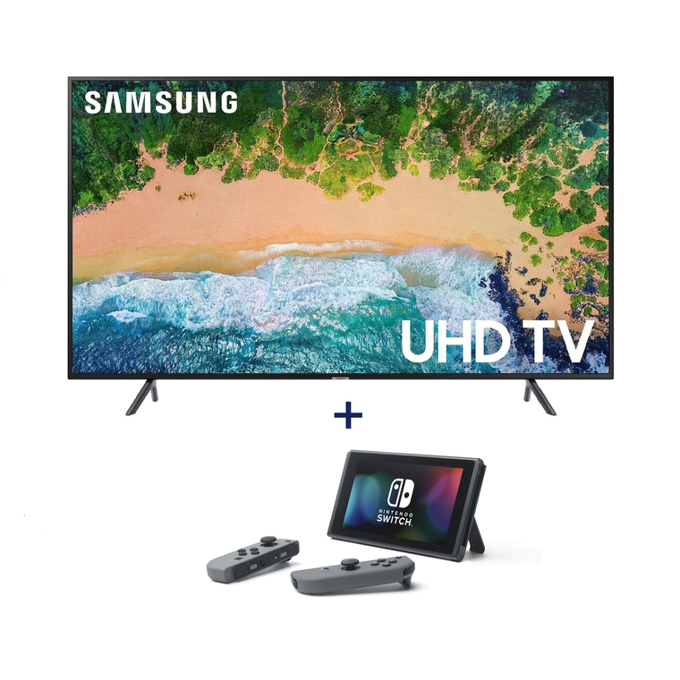 "Paquete de Smart TV UHD de 55"" Class 4K (54.6"" en Diag.) y Nintendo Switch"