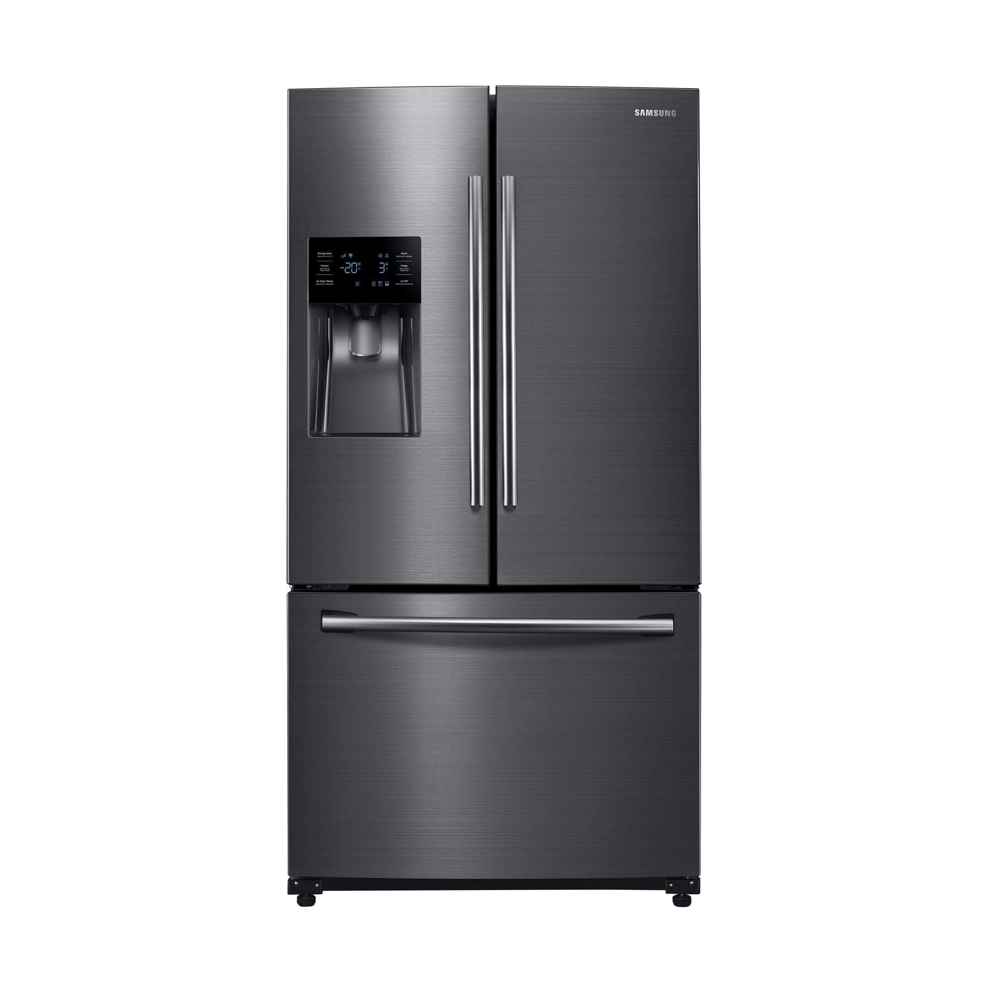 French Door Refrigerator With Ice And Water   Black Stainless