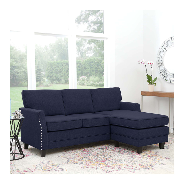 navy chaise