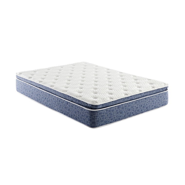 "12"" Pillow Top Plush Queen Hybrid Boxed Mattress"
