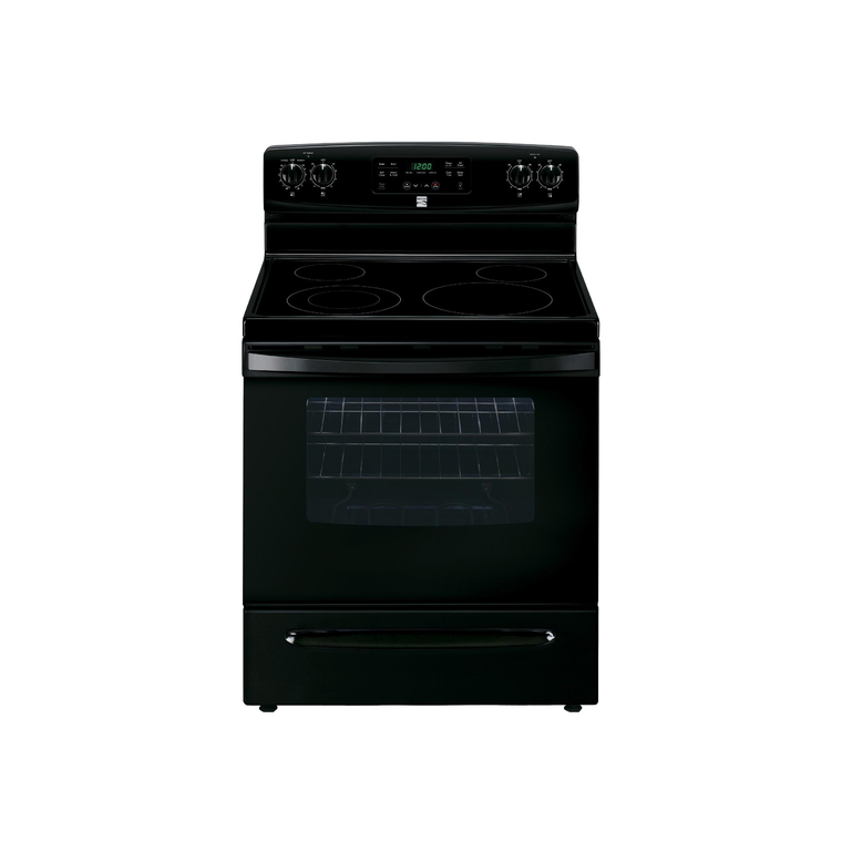 5.3 cu. ft. Electric Self Cleaning Oven with Ceramic Cooktop - Black at Aaron's in Lincoln Park, MI | Tuggl