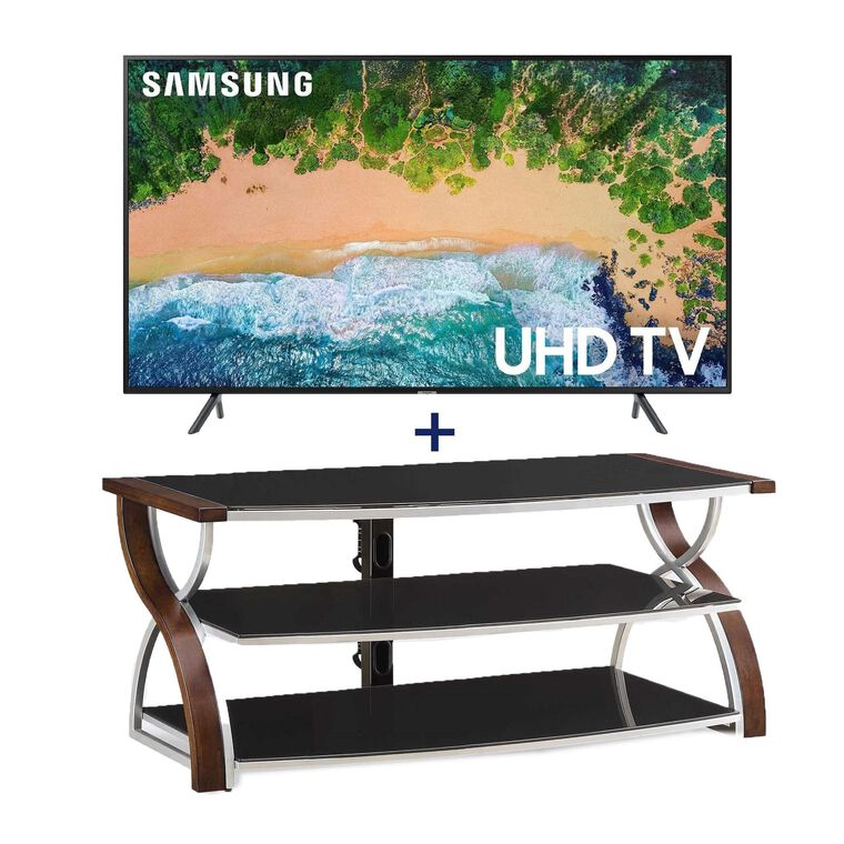 "55"" Class Smart 4K UHD TV & 54"" TV Console Bundle"