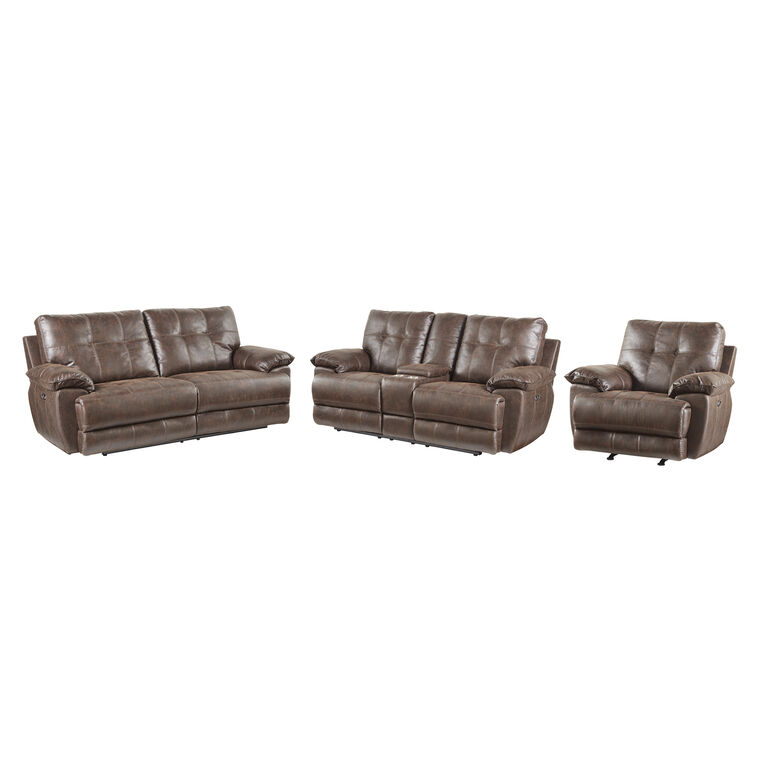 3-Piece Hollister Reclining Sofa, Loveseat, and Recliner