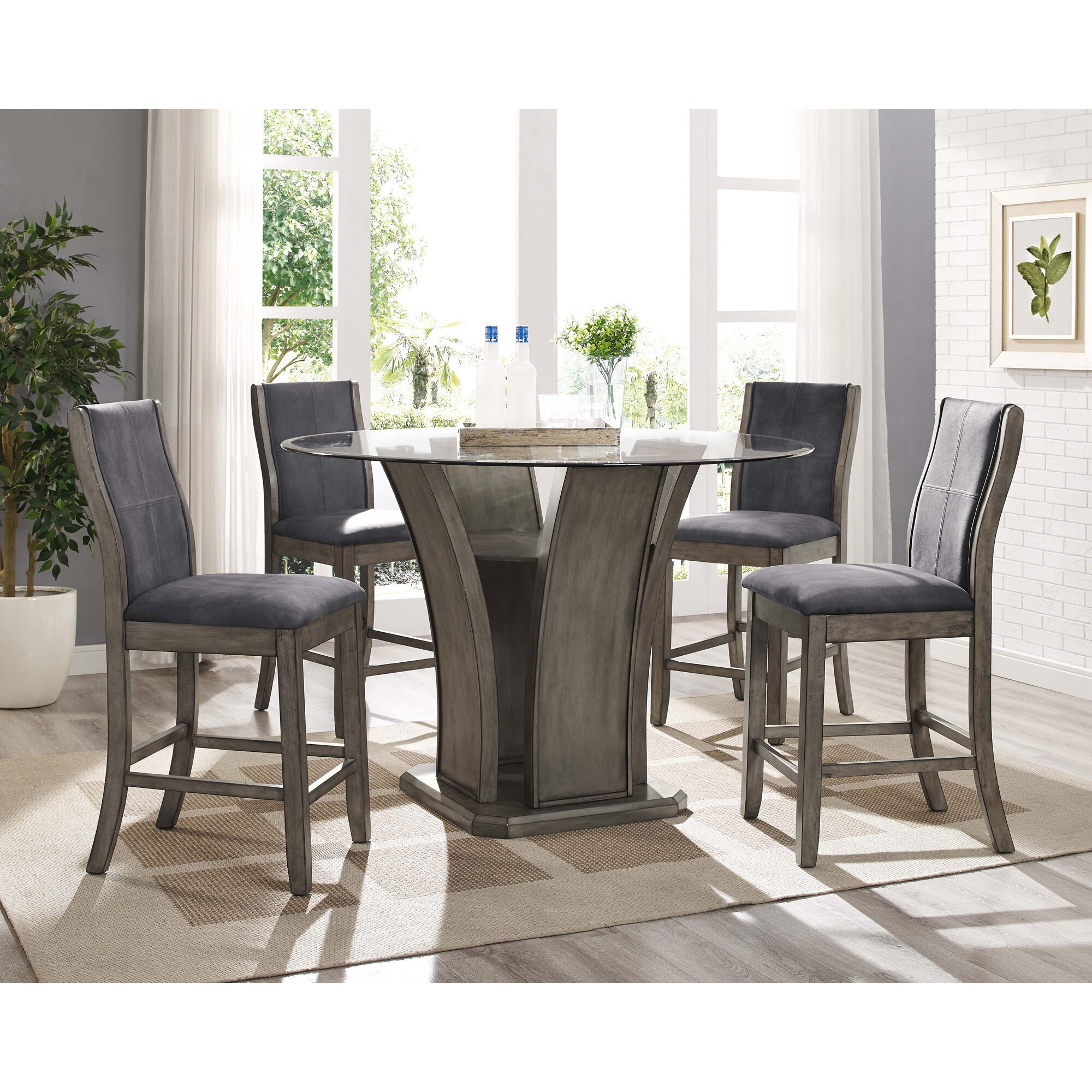 5 Piece Destin Dining Room Collection Rent to