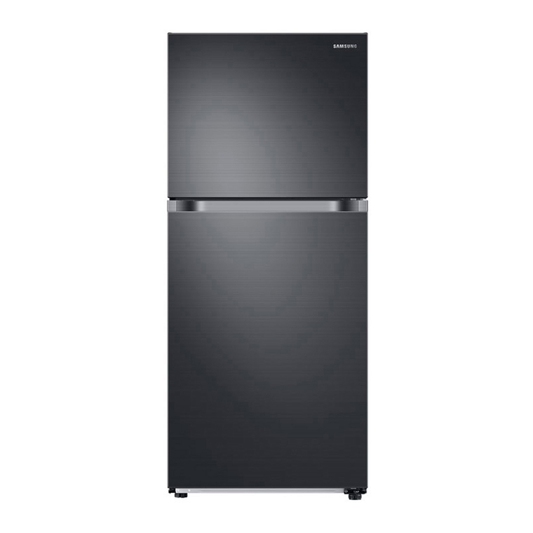 18 cu. ft. Top Freezer Refrigerator - Black Stainless Steel | Tuggl