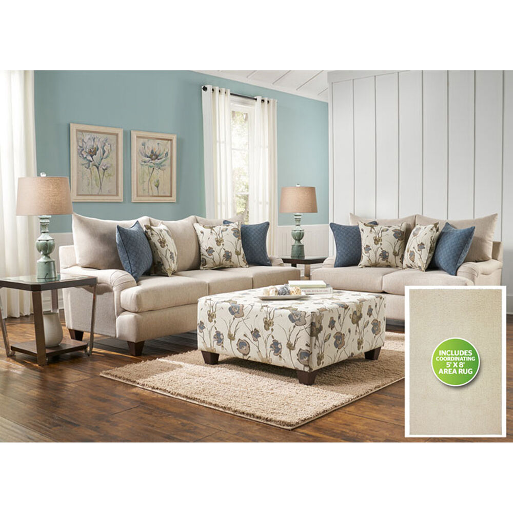 Woodhaven Industries Living Room Sets 8-Piece Vogue Living Room ...