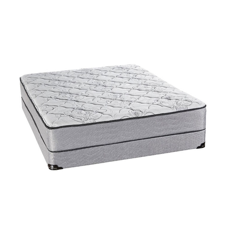 "Luxury Tight Top Twin Mattress with 9"" Foundation and Protectors"