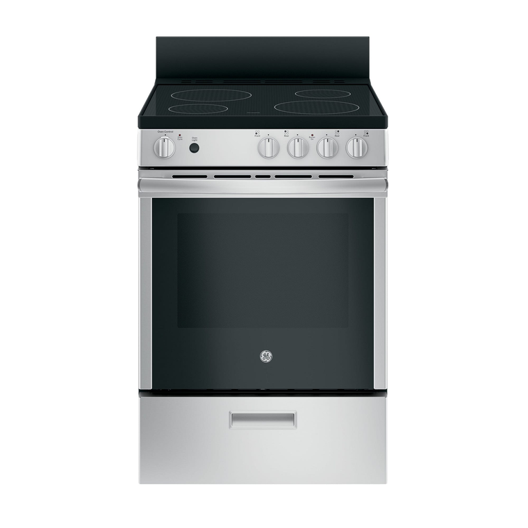"""24"""" 2.9 cu. ft. Standard Clean Electric Range with Ceramic Cooktop - Stainless"""
