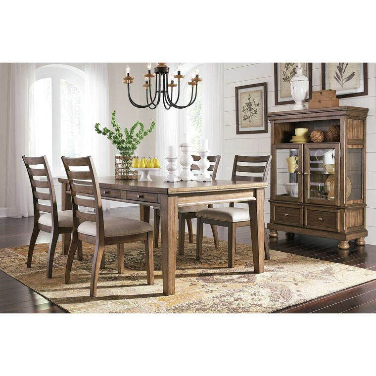 6-Piece Flynnter Dining Room Collection with Curio Cabinet