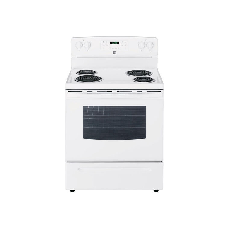 5.3 cu. ft. Self-Clean Coil Range - White
