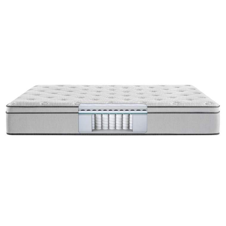 Euro Top Plush King Mattress with Woodhaven Foundation and Protectors