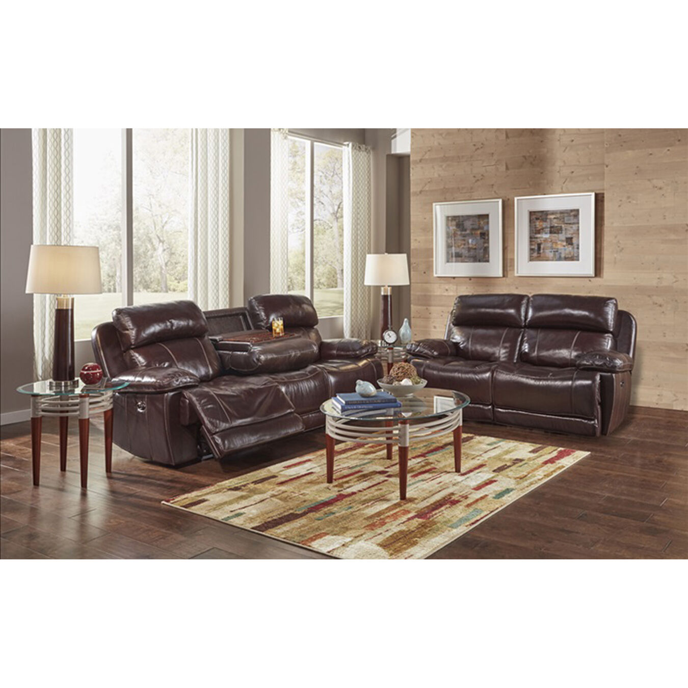 Happy leather sofa loveseat sets 2 piece james reclining living room collection