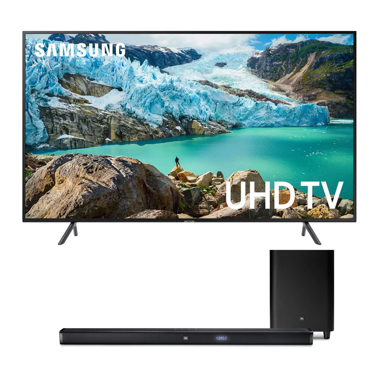 "75"" Class Smart 4K UHD TV & JBL 450W 3.1Ch Ultra HD Sound Bar Bundle"