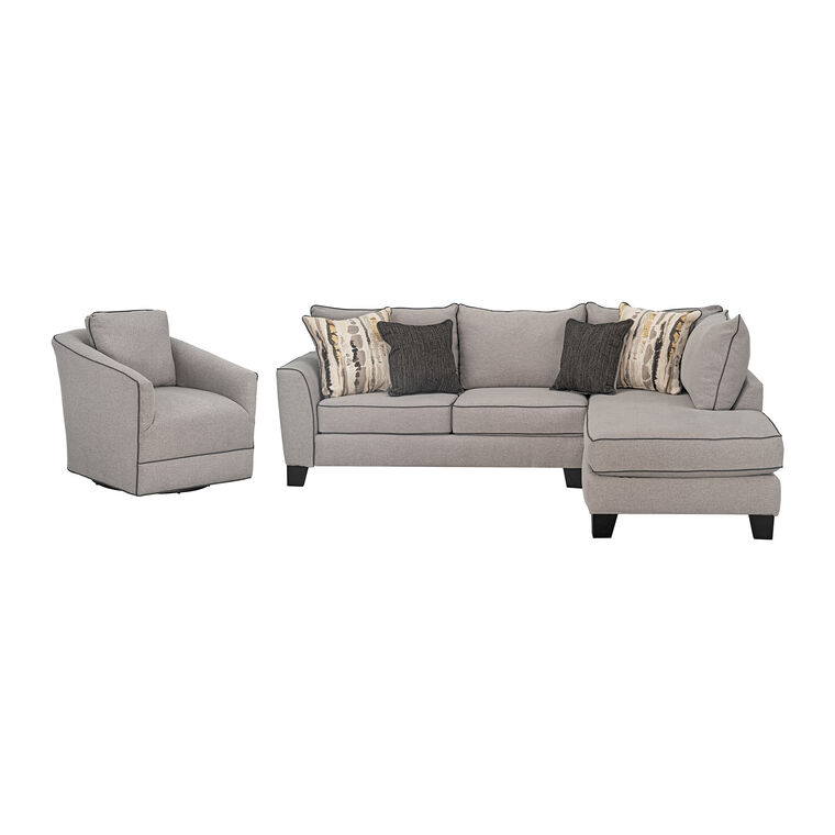 3-Piece Nicolette Sectional with Chair