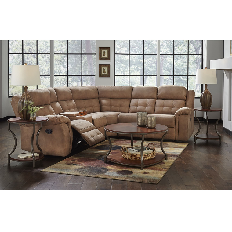 Amalfi Sectional Sets 3 Piece Cobalt Reclining Living Room