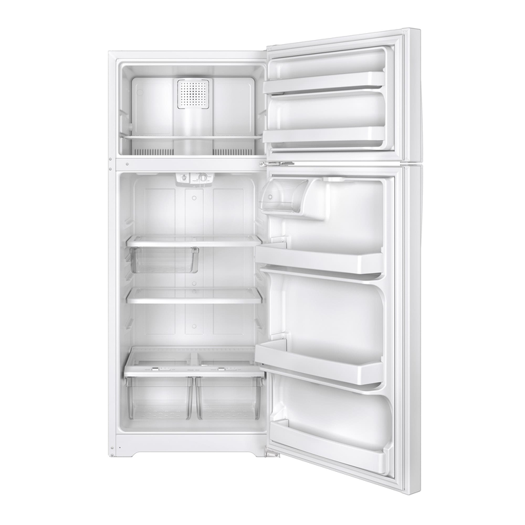 17.5 cu. ft. Top Mount Refrigerator - White