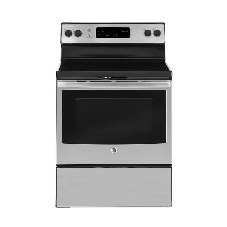 5.0 cu. ft. Self Cleaning Electric Range with Ceramic Cooktop - Stainless
