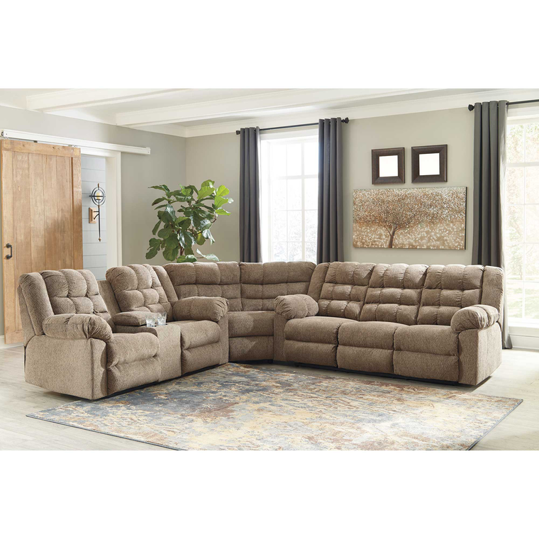 3-Piece Workhorse Reclining Sectional Living Room Collection