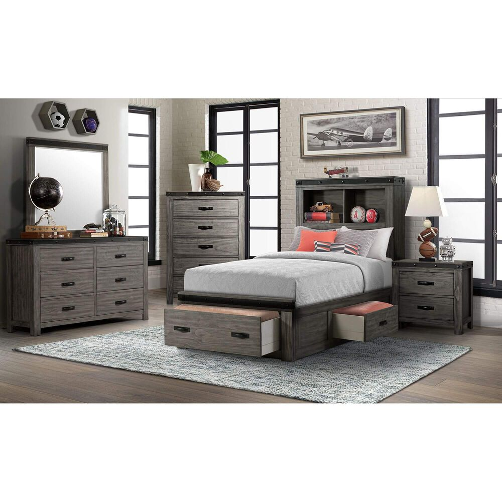 Rent To Own Elements International 6 Piece Wade Twin Bedroom Set