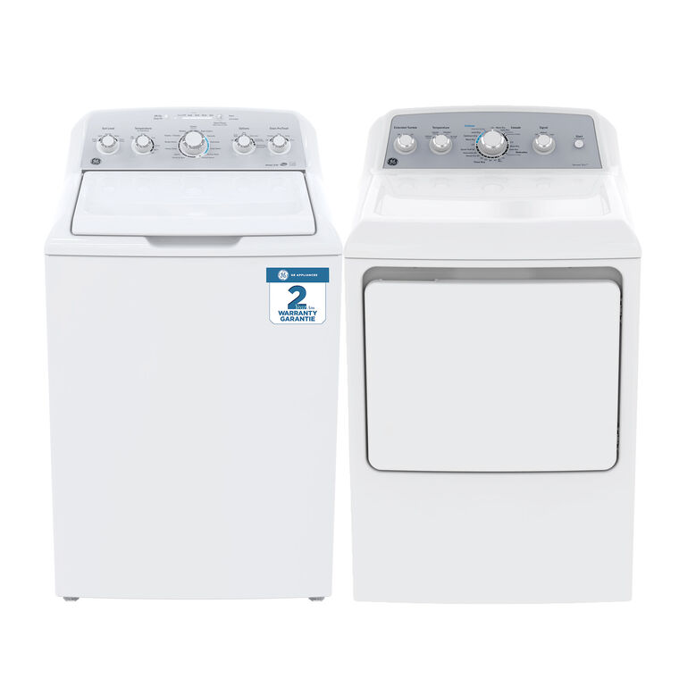 4.9 cu. ft. Top Load Washer &  7.2 cu. ft. Gas Dryer