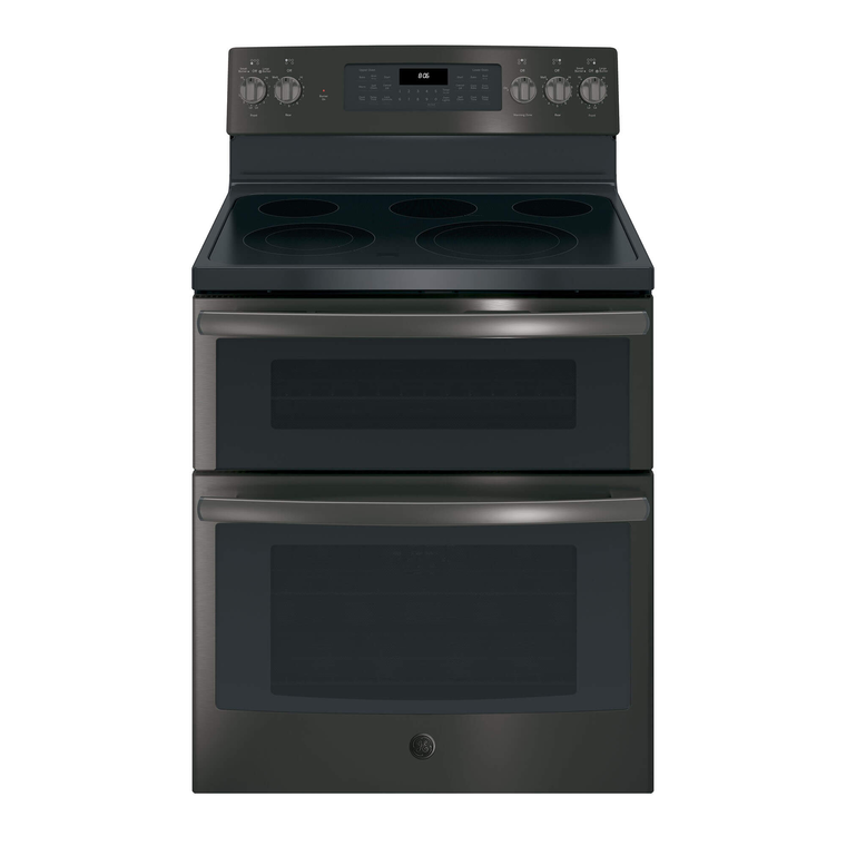 6.6 cu. ft. Self Cleaning Electric Double Oven Range with Ceramic Cooktop - Black Stainless Steel