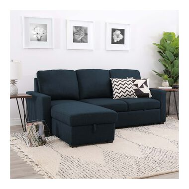 2-Piece Newton Navy Chaise Sofa
