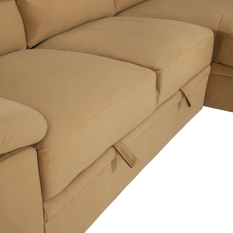 2-Piece Sybil Sectional Chaise Sleeper Sofa with Storage Chaise