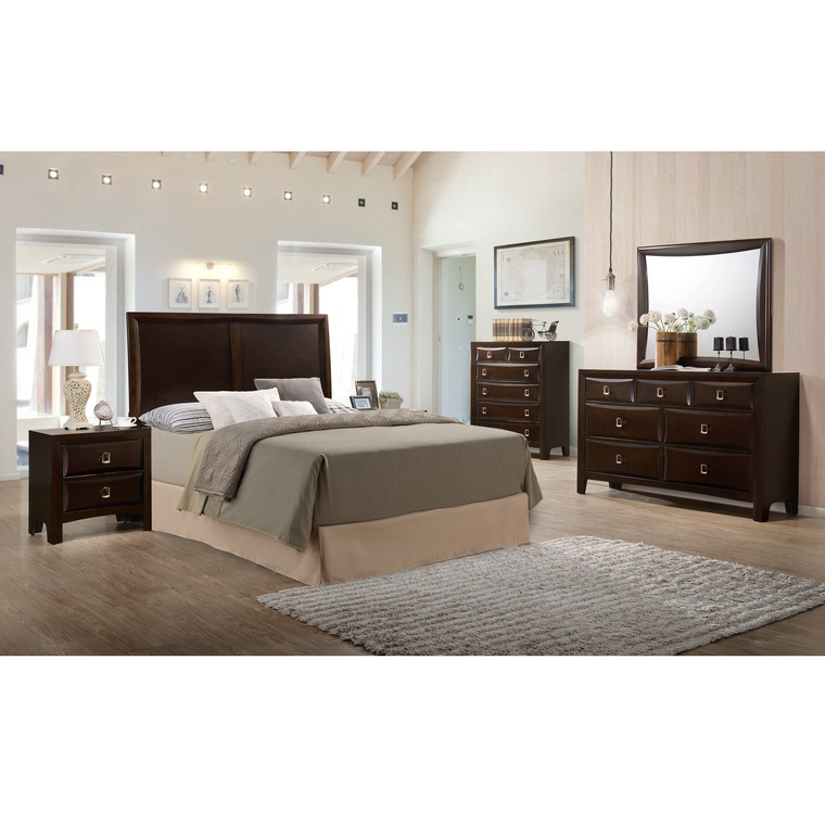 10-Piece Franklin Queen Bedroom Collection With Pillow Top Mattress