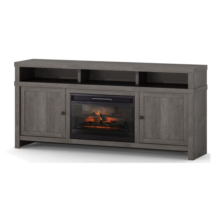 "72"" Fireplace TV Console with 26"" Firebox"