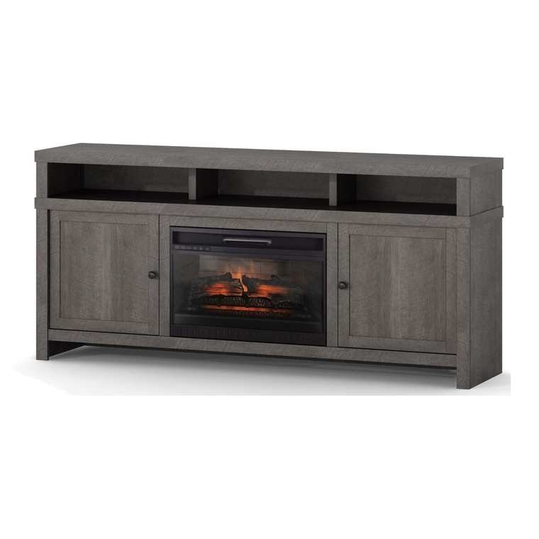 """72"""" Fireplace TV Console with 26"""" Firebox"""