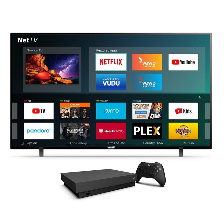 "Paquete de Smart TV UHD 4K de 75"" Class ​​​​​​​ (74.5"" en Diag.) y  Xbox One X de 1 TB"