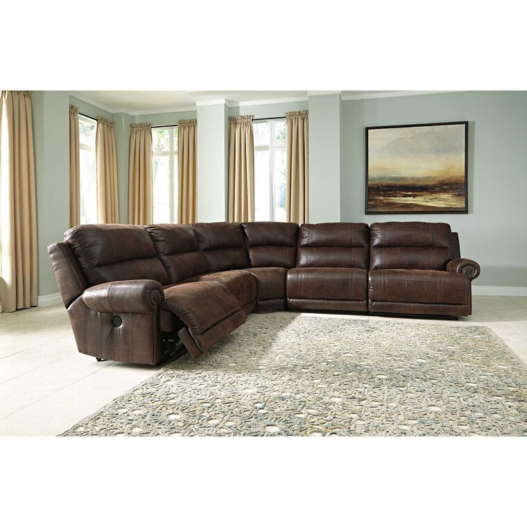 6-Piece Luttrell Reclining Sectional Living Room Collection
