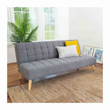 Carson Grey Fabric Convertible Sofa