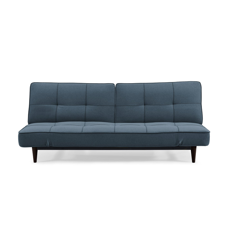 Russell Sydney Blue Splitback Convertible Sofa with Adjustable Arms
