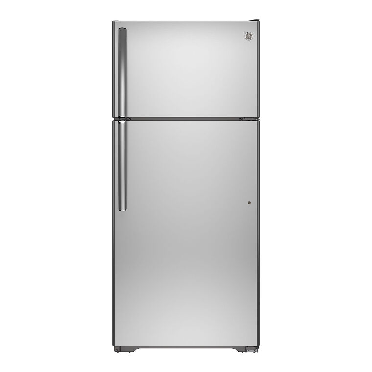 15.5 cu. ft. Top Mount Refrigerator - Stainless Steel