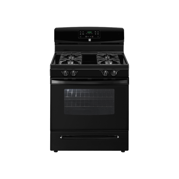 5.0 cu. ft. Self Cleaning Gas Range - Black at Aaron's in Lincoln Park, MI | Tuggl