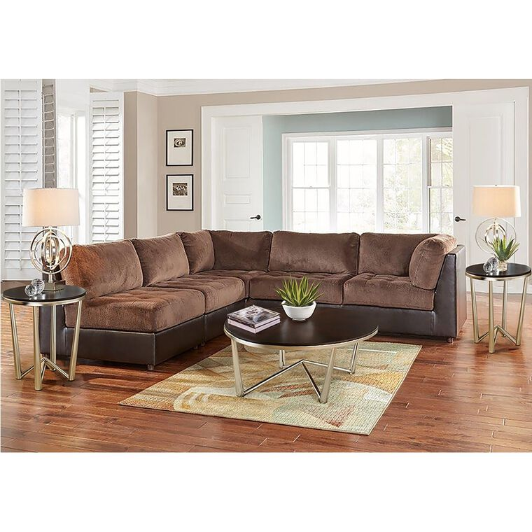 10-Piece Hennessy Modular Sectional Living Room Collection with Cocktail Table